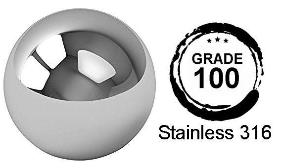 9mm Diameter Grade 100 AISI316 Stainless Steel Balls image 2