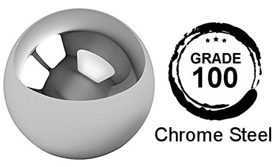 31/64 Inch Diameter Grade 100 Hardened 52100 Chrome Steel Balls image 2