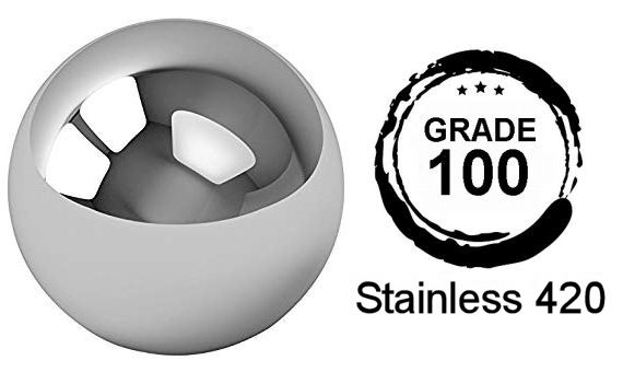 9mm Diameter Grade 100 AISI420 Stainless Steel Balls image 2