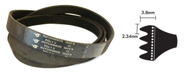PJ267/105PJ Hutchinson J Section Multi Ribbed Poly V Belt 267mm/10.5 inch Long image 2