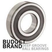 6001 2RS Budget Brand Sealed Deep Groove Ball Bearing 12x28x8mm