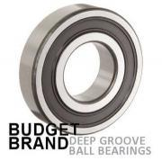 6007 2RS Budget Brand Sealed Deep Groove Ball Bearing 35x62x14mm