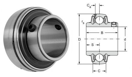 UCX07 Budget Brand Spherical Outside Bearing Insert 35mm Bore image 2