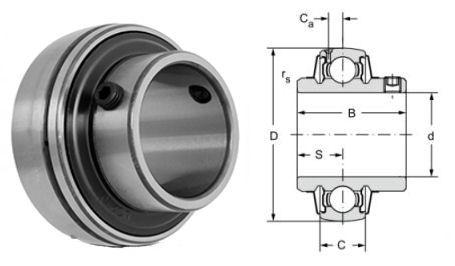 UCX18 Budget Brand Spherical Outside Bearing Insert 90mm Bore image 2