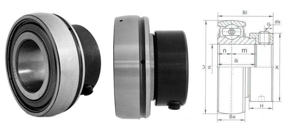 RHP Self-Lube 1230-30ECG Insert 30mm shaft x 62mm outside diameter