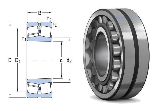 22312EK/VA405 SKF Spherical Roller Bearing for Vibratory Applications Tapered Bore 60x130x46mm image 2