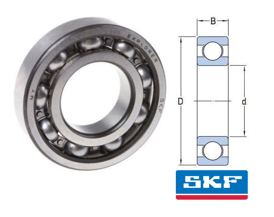 W618/1 SKF Open Stainless Steel Deep Groove Ball Bearing 1x3x1mm image 2