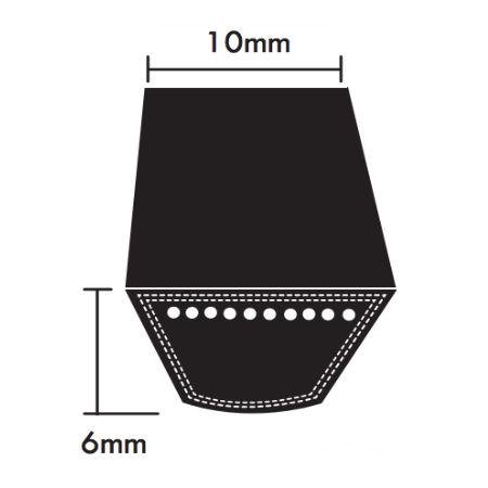Dunlop Z Section Wrapped V Belts 10x6mm photo