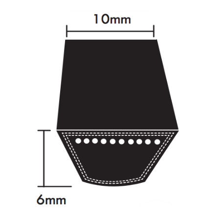 PIX Z Section Wrapped V Belts 10x6mm photo