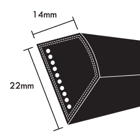 PIX C Section Wrapped V Belts 22x14mm photo