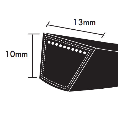 PIX SPA Section Wrapped Wedge Belts 13x10mm photo