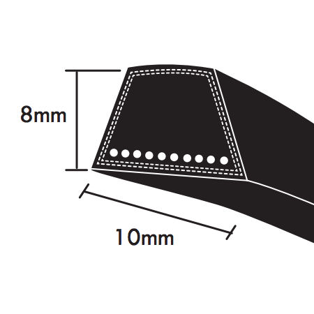 PIX SPZ Section Wrapped wedge Belts 10x8mm photo