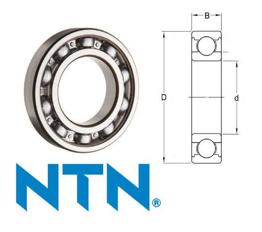 60/22 NTN Open Deep Groove Ball Bearing 22x44x12mm image 2