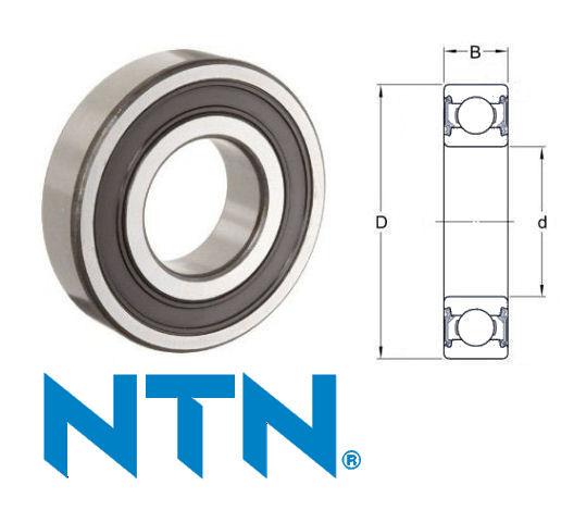 60/32LLU NTN Sealed Deep Groove Ball Bearing 32x58x13mm image 2