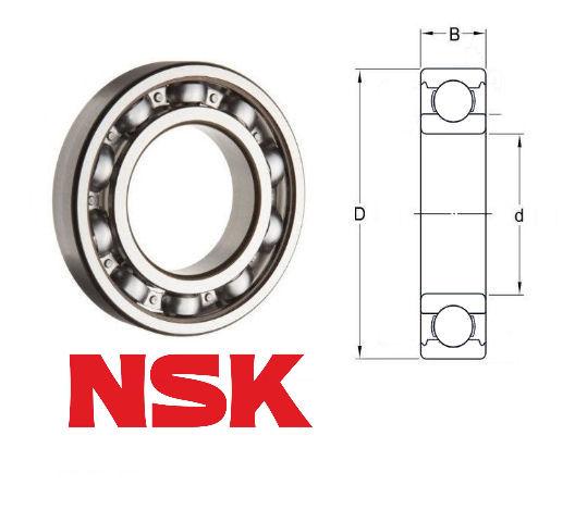 62/22 NSK Open Deep Groove Ball Bearing 22x50x14mm Deep