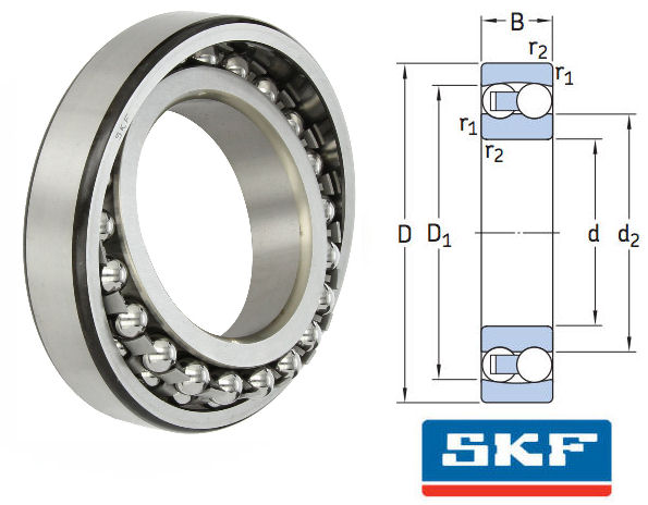 1215 SKF Self Aligning Ball Bearing 75x130x25mm image 2