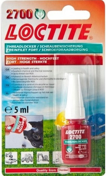 Loctite 2700 Health & Safety Friendly High Strength 5ml image 2