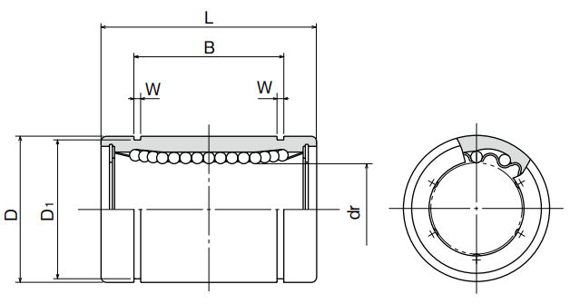 Lm8uu Budget Brand Sealed Closed Linear Ball Bushing 8x15x24mm Linear Ball Bushings Bearing King