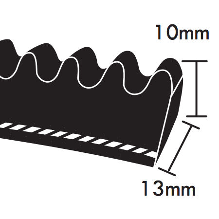 Dunlop XPA Section Cogged Wedge Belts 13x10mm photo