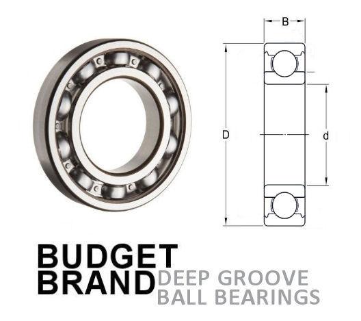 629 Budget Brand Open Deep Groove Ball Bearing 9x26x8mm image 2