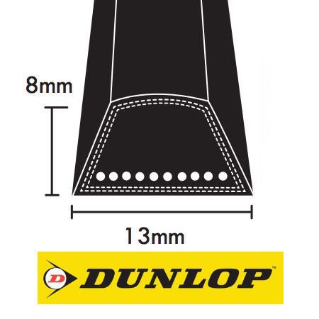 Dunlop A Section Wrapped V Belts 13x8mm photo