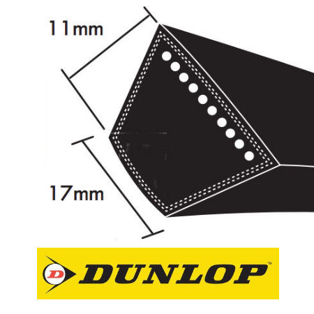Dunlop B Section Wrapped V Belts 17x11mm photo