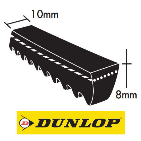 Dunlop XPZ Section Cogged Wedge Belts 10x8mm photo