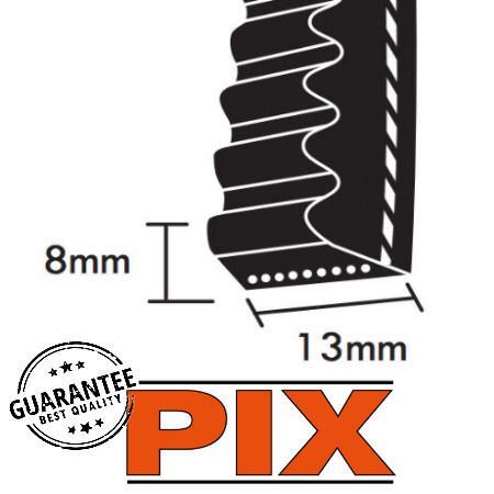 PIX AX Section Cogged Wedge Belts 13x8mm photo