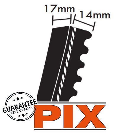 PIX XPB Section Cogged Wedge Belts 17x14mm photo
