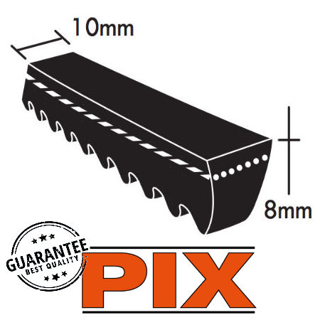 PIX XPZ Section Cogged Wedge Belts 10x8mm photo