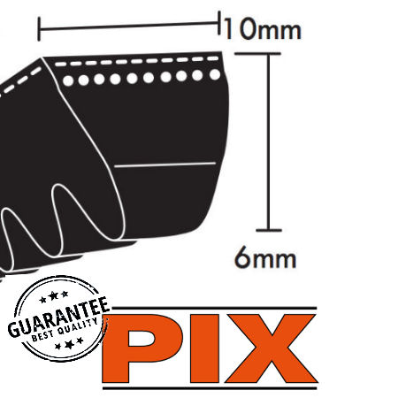 PIX ZX Section Cogged Wedge Belts 10x6mm photo