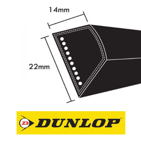 Dunlop C Section Wrapped V Belts 22x14mm photo