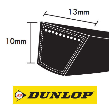Dunlop SPA Section Wrapped Wedge Belts 13x10mm photo