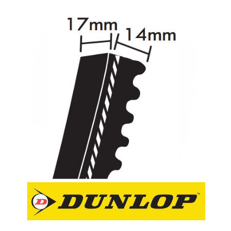 Dunlop XPB Section Cogged Wedge Belts 17x14mm photo
