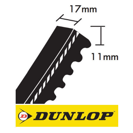 Dunlop BX Section Cogged Wedge Belts 17x11mm photo