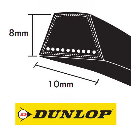 Dunlop SPZ Section Wrapped wedge Belts 9.7x8mm photo