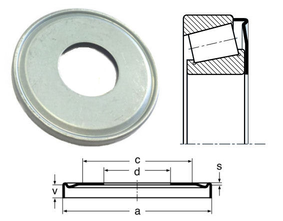 32214AV Nilos Ring for 32214 Bearings image 2