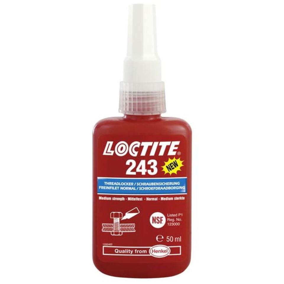 Loctite 243 Medium Strength Oil Tolerant 50ml image 2
