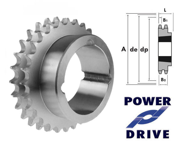38 Tooth 06B Duplex Taper Sprocket to suit 3/8 Inch Pitch Chain image 2